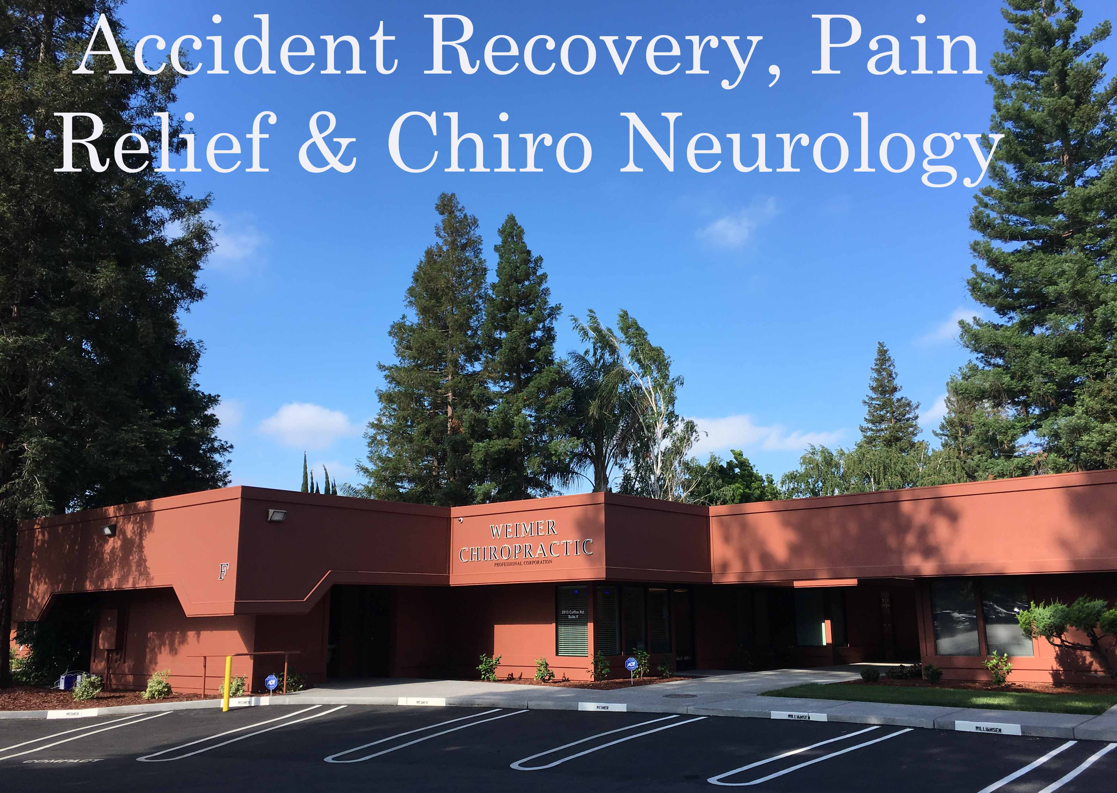 accident recovery, pain relief and chiropractic neurology.