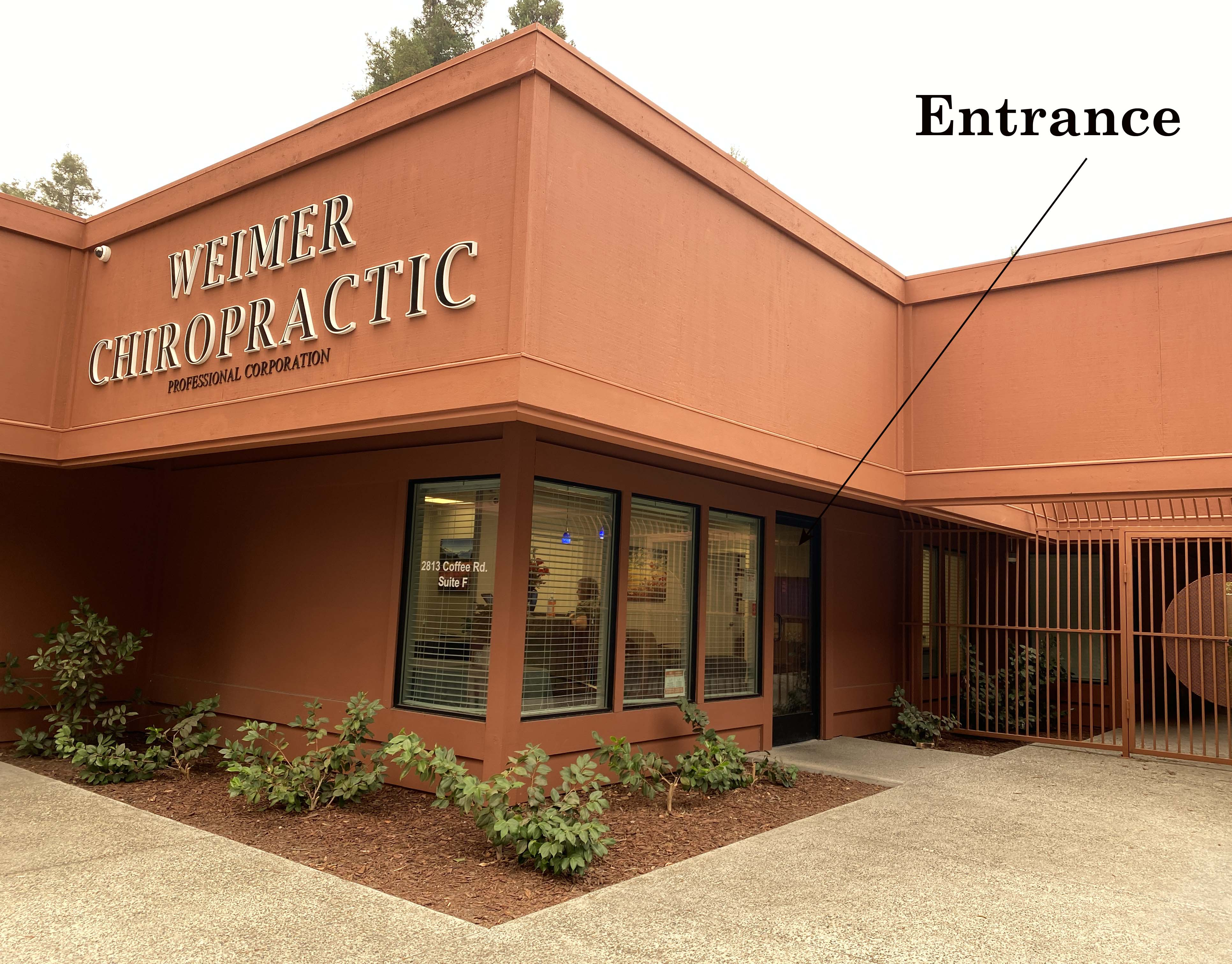 The stress free entrance to Weimer Chiropractic