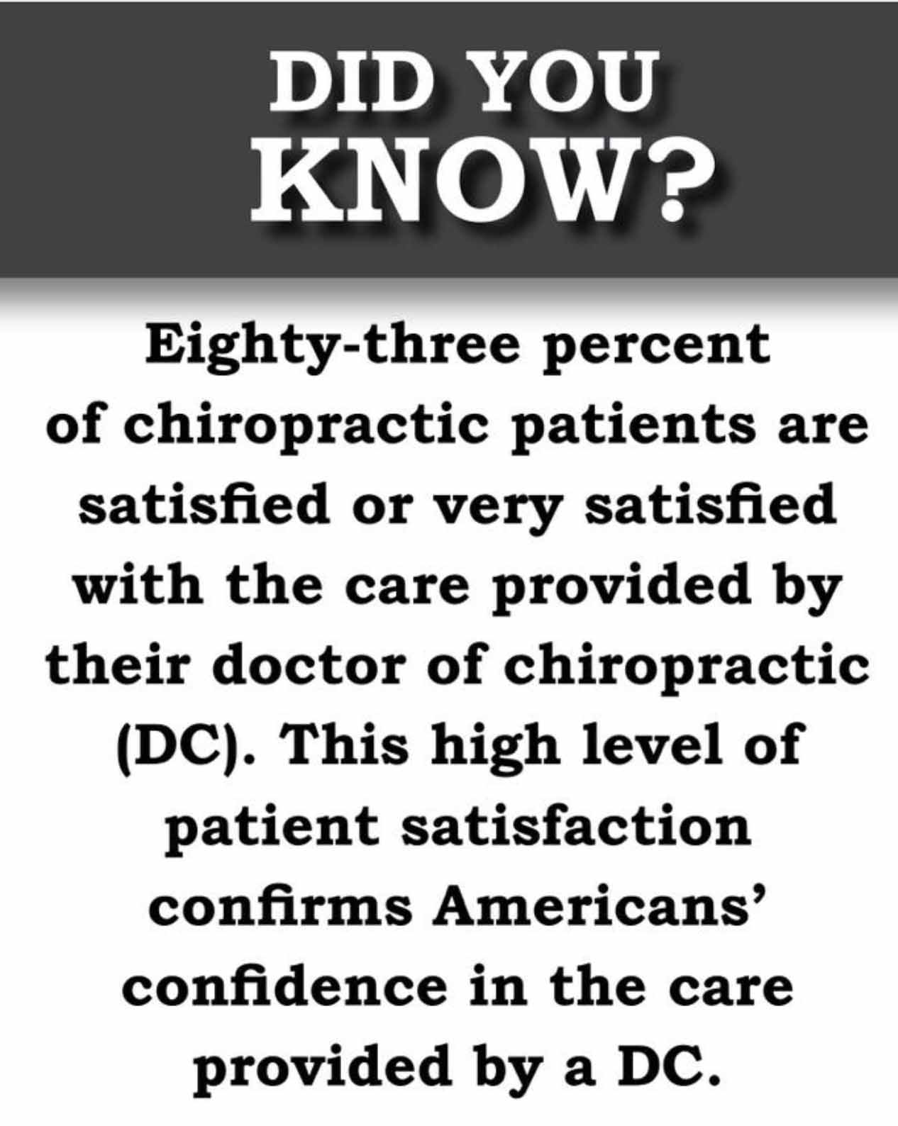 Weimer Chiropractic has high satisfaction.