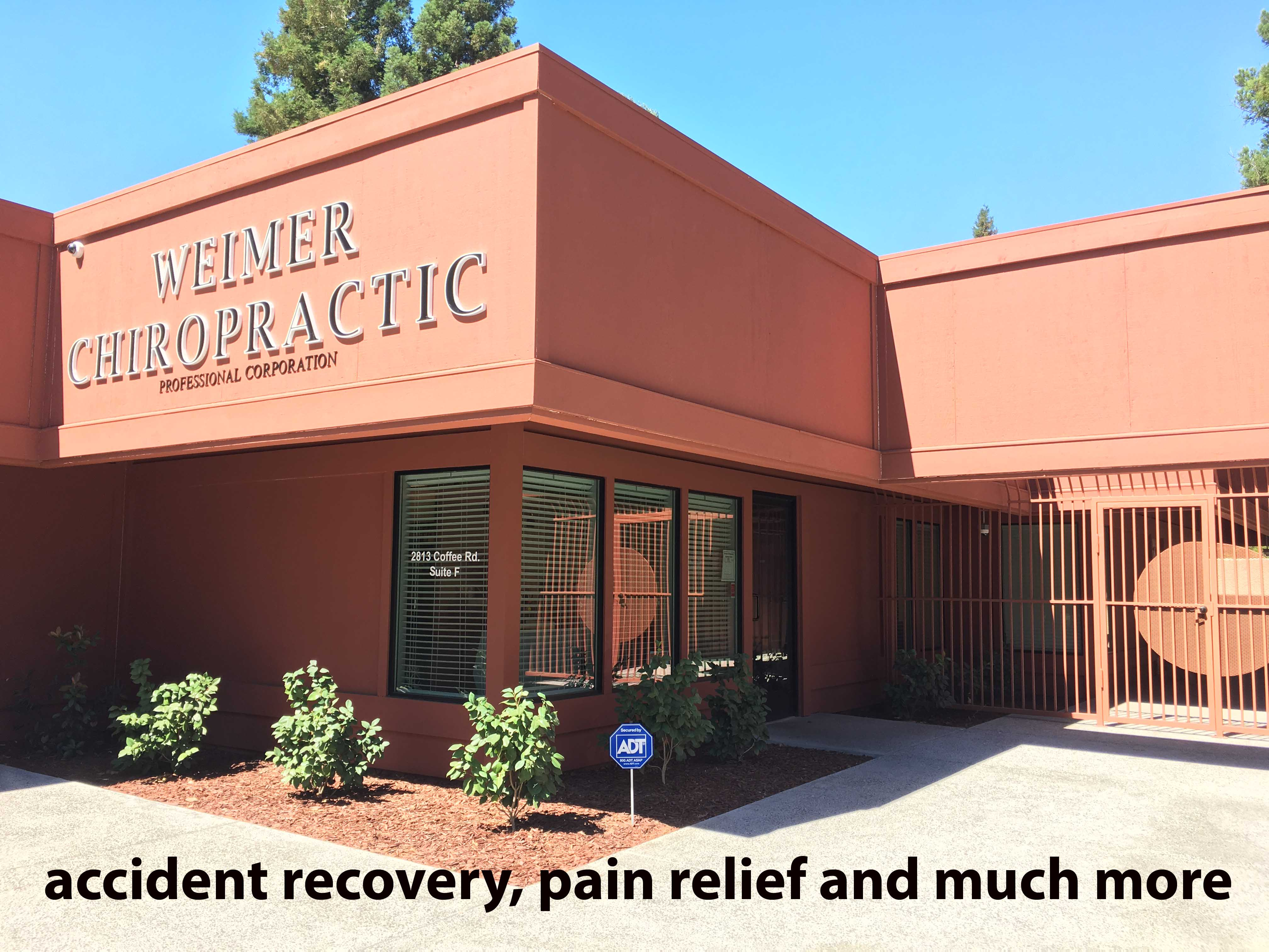 accident recovery and pain management at Weimer Chiropractic.
