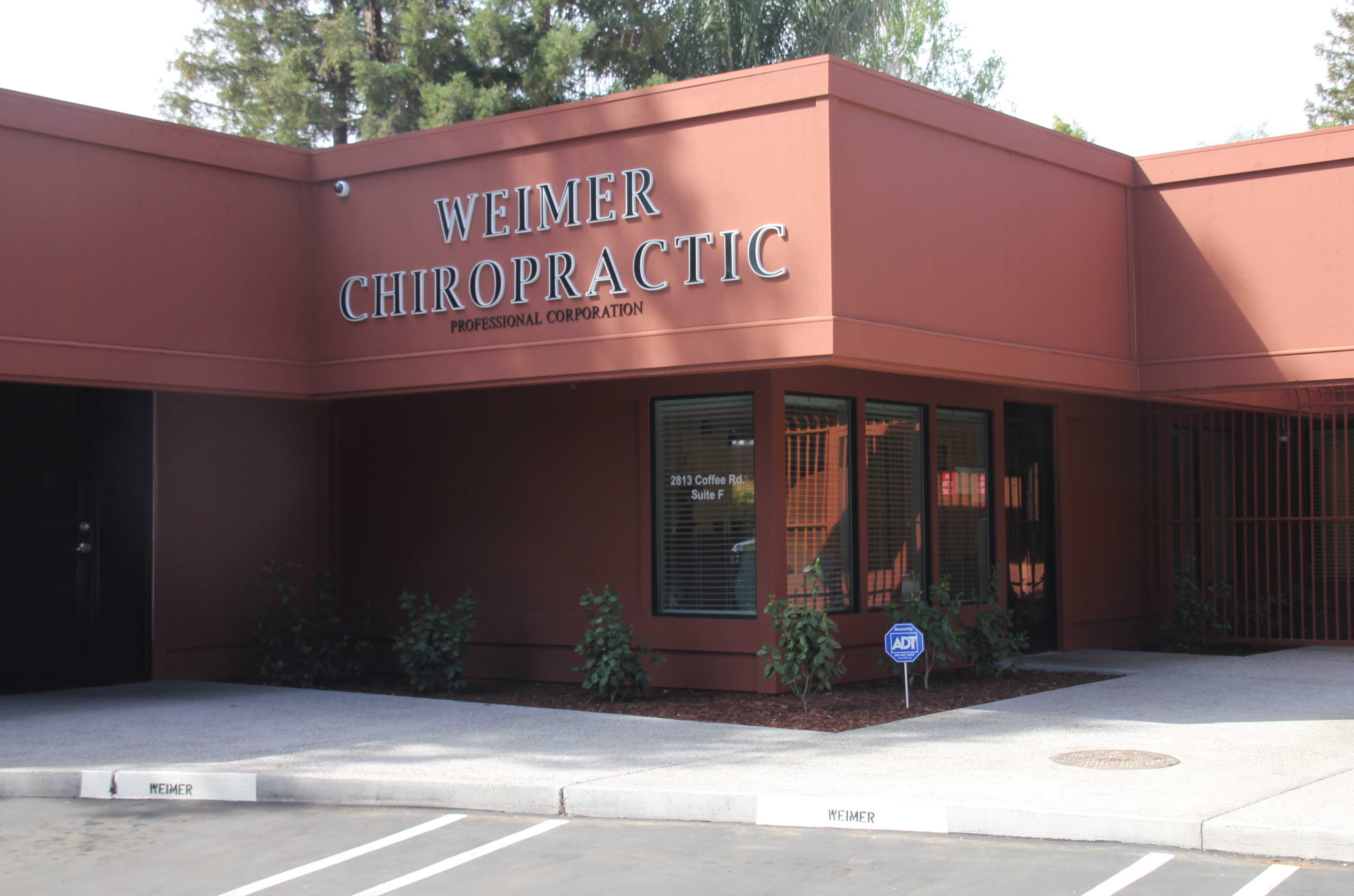 Weimer Chiropractic Front Entrance