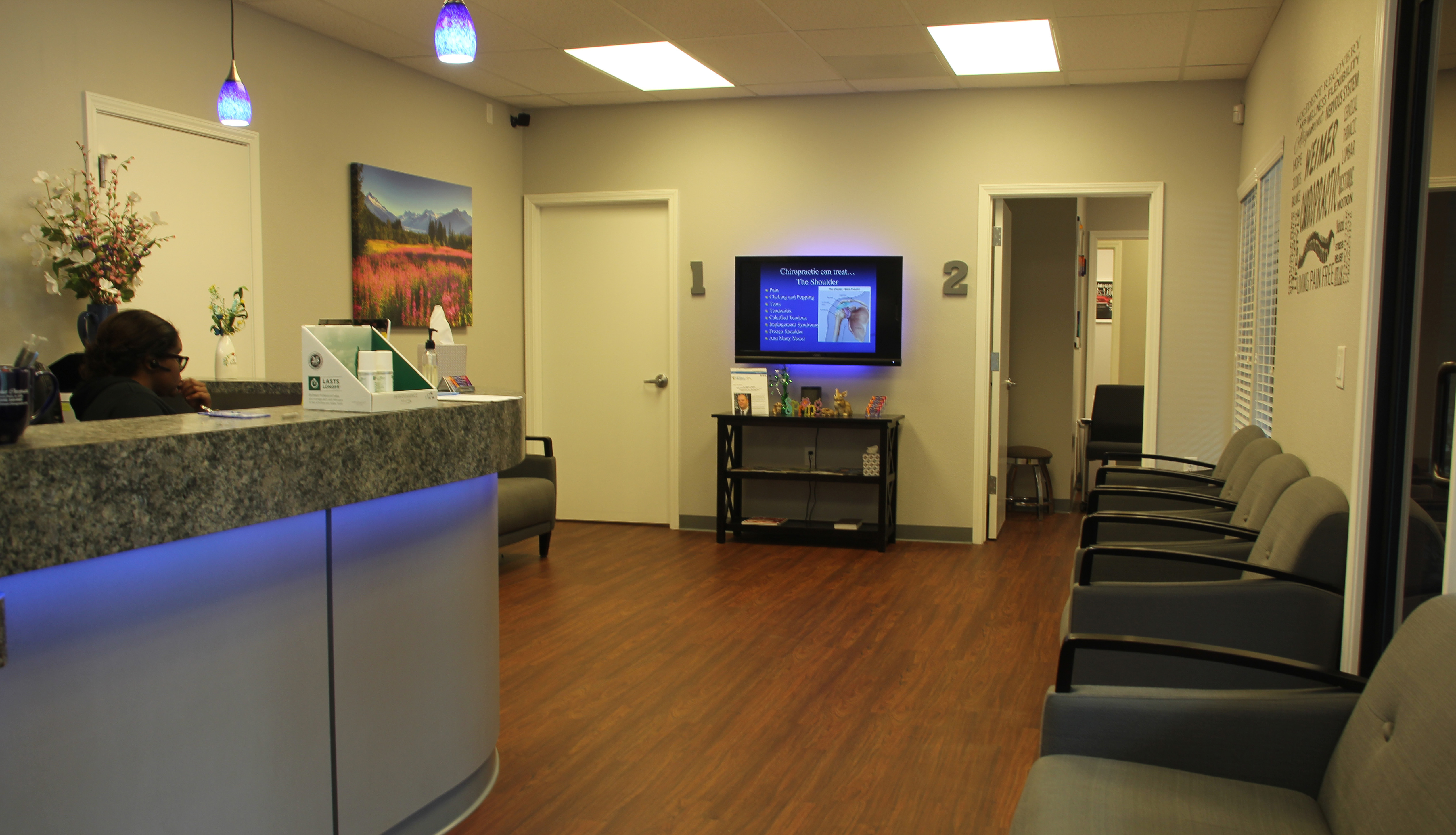 Weimer Chiropractic has a comfortable waiting room.
