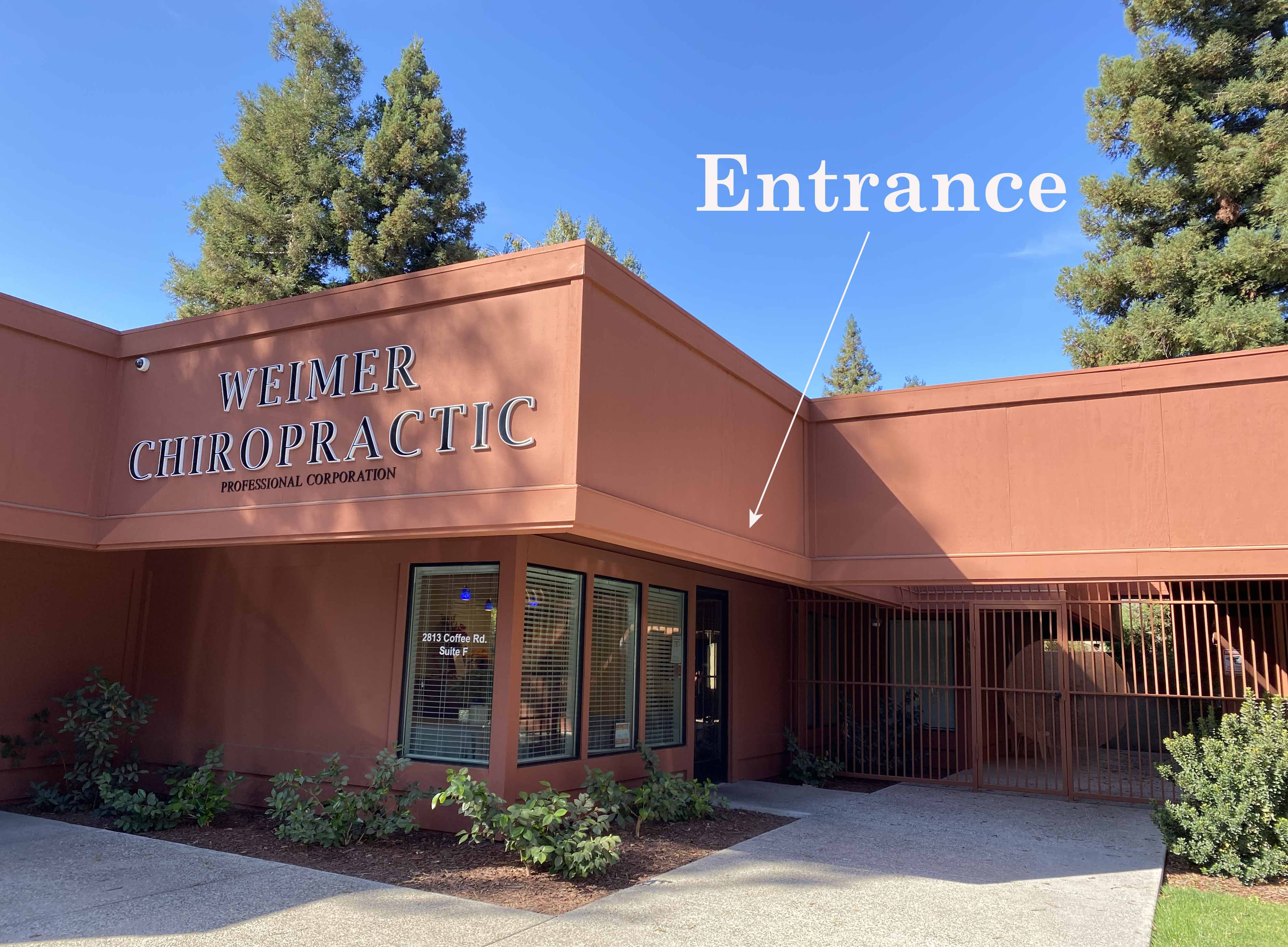 Entrance at Weimer Chiropractic