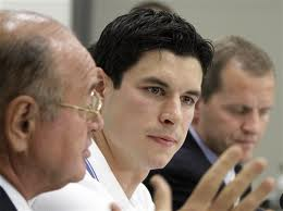 Dr. Ted Carrick with Sydney Crosby, NHL Superstar.